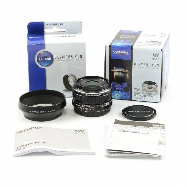 Olympus M. Zuiko Digital 17mm f1.8 MSC Lens Black + Box