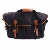 Billingham 550 Camera System Bag Black Canvas / Tan Leather