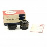 Leica 35mm f2 Summicron-M Black 4th Version King Of Bokeh Tiger Claw + Box