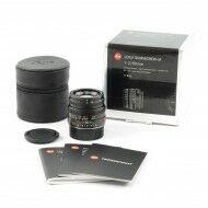 Leica 50mm f2 Summicron-M Black + Box Nice Number