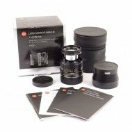 Leica 90mm f4 Macro-Elmar-M Black 6-Bit + Box