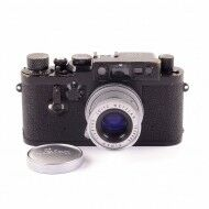Leica IIIG BLack Paint 3 Crowns Swedish Army