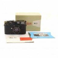 Leica M2 Black Paint Button Rewind + 50mm f2 Summicron Black Paint + Leicavit Black Paint + Box Rare