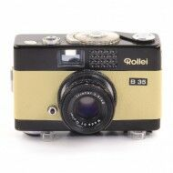 Rollei B35 Black Paint White Leather