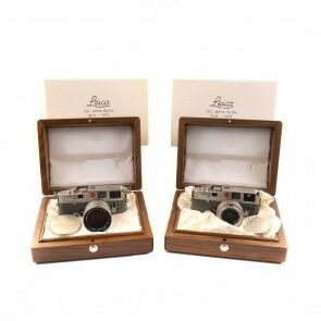 Leica M6 Platinum 150 Years Optik Set 35mm Summicron + 50mm Summilux + Box
